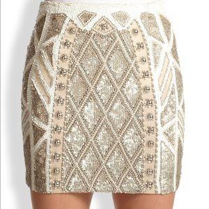 Needle and Threads Geo Sundown Mini Skirt